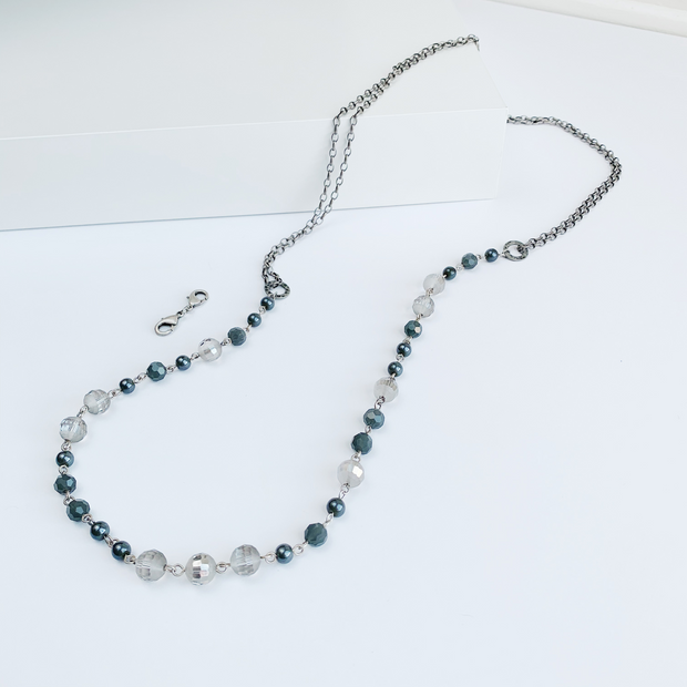 LouLou 2-in-1 Beaded Necklace - Silver