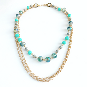 LouLou 2-in-1 Beaded Necklace - Gold