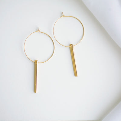 Lucia Hoop Earrings - Gold
