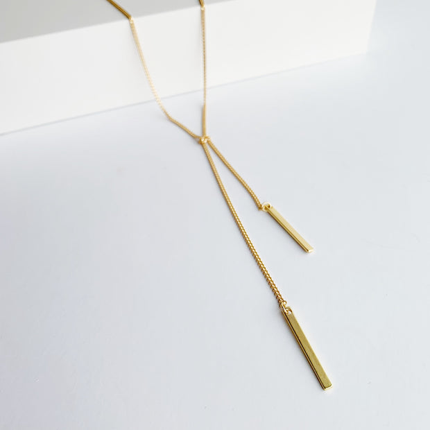 Lucia 2-in-1 Lariat Necklace - Gold