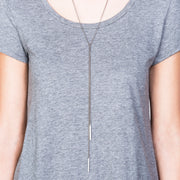 Lucia 2-in-1 Lariat Necklace - Silver