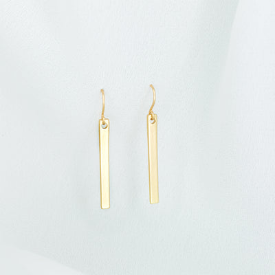 Lucia Single Bar Earrings - Gold