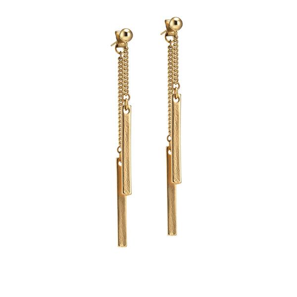 Lucia Post Earrings - Gold
