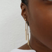 Lucia Double Sided Earrings - Gold