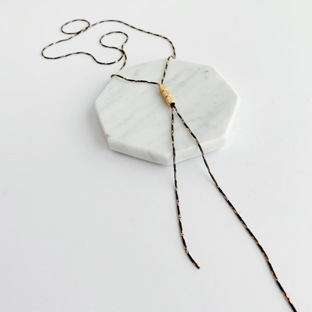 Lunetta 2-in-1 Necklace - Black and Gold