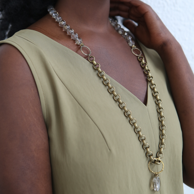 Lyra 2-in-1 Necklace - Brass