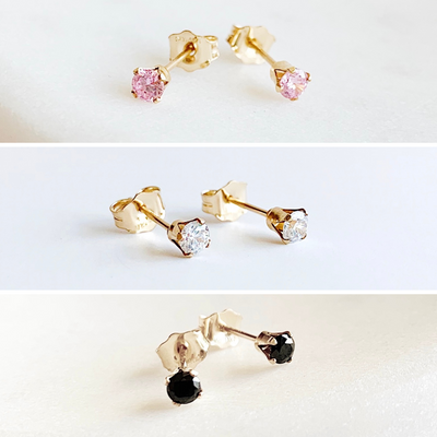 Dainty Gem Studs Set - Neutrals