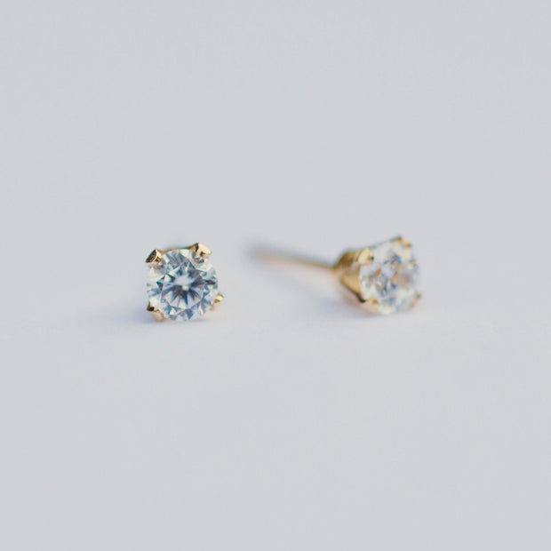 Marilyn Micro Stud Earrings - Clear
