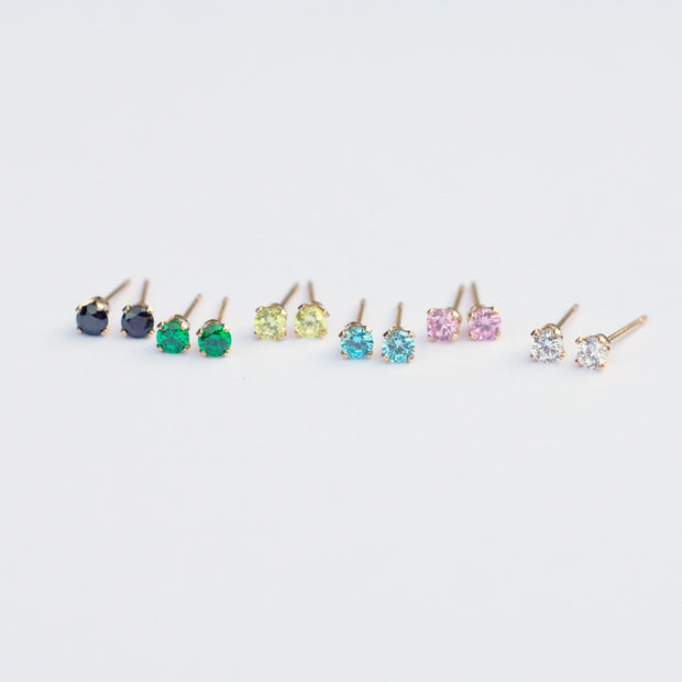Marilyn Micro Stud Earrings - Emerald