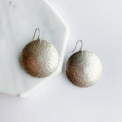 Mars Drop Large Earrings - Silver
