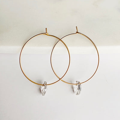 Maxine Hoop Earrings - Gold