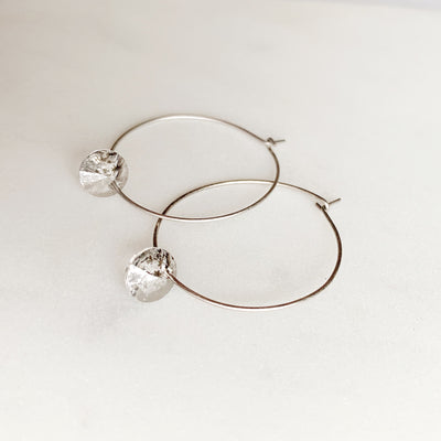Maxine Hoop Earrings - Silver
