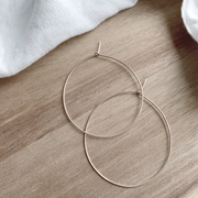 Weightless Medium Hoops - Sterling Silver