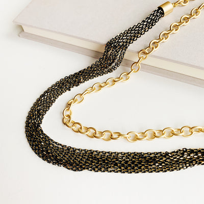 Menara 2-in-1 Necklace - Black