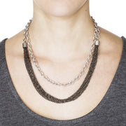 Menara Convertible Necklace - Silver 3