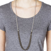Menara Convertible Necklace - Silver 2