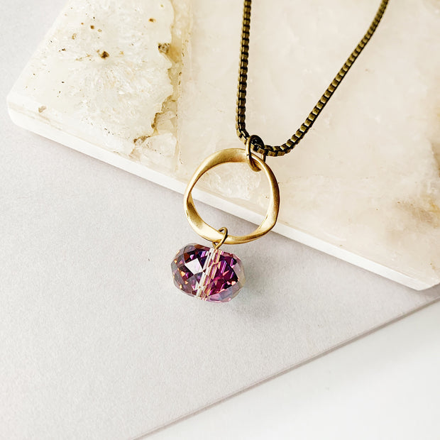 Moonlight Necklace - Gilded Pinot