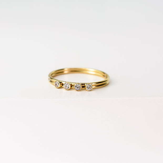 Norma 4-Gem Stacking Ring - 14k Gold Fill