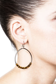 Oasis Earrings – Tiger Eye 2