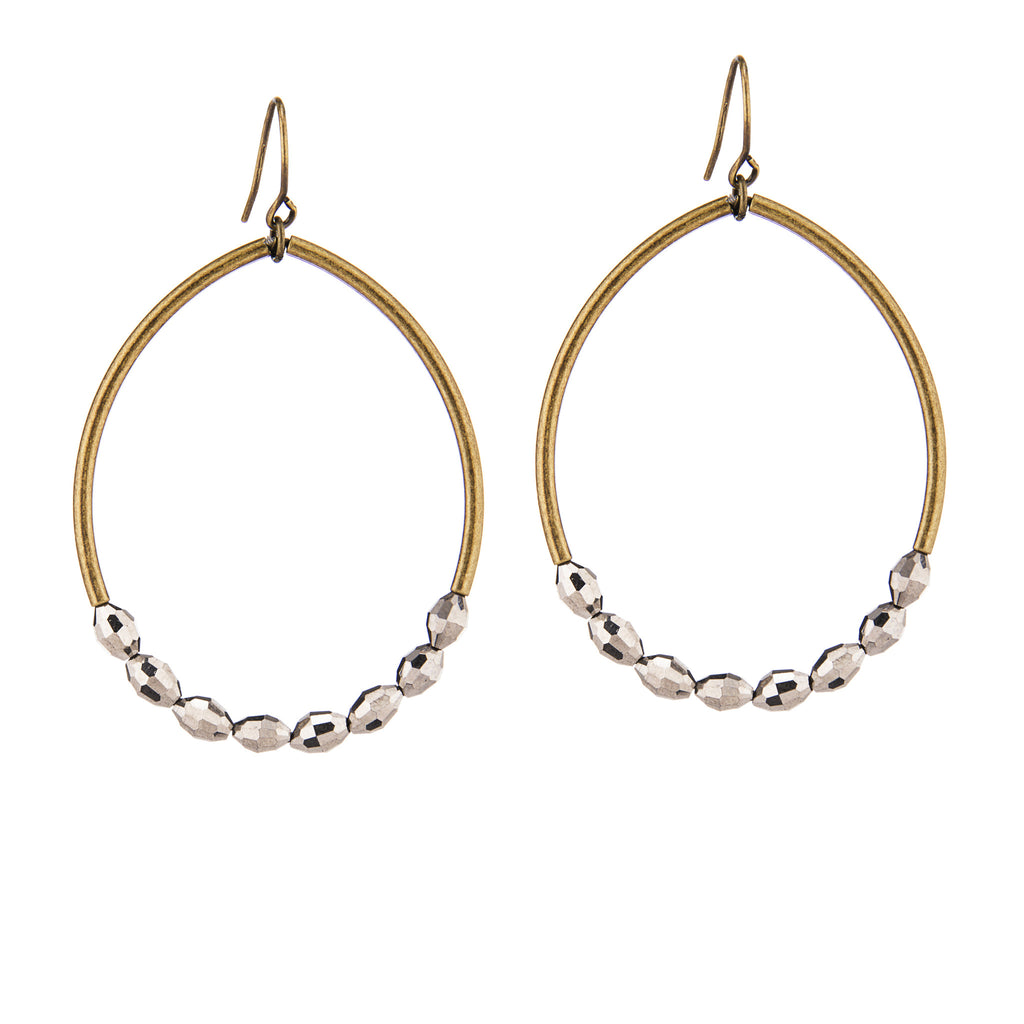 Oasis Earrings –  Brass