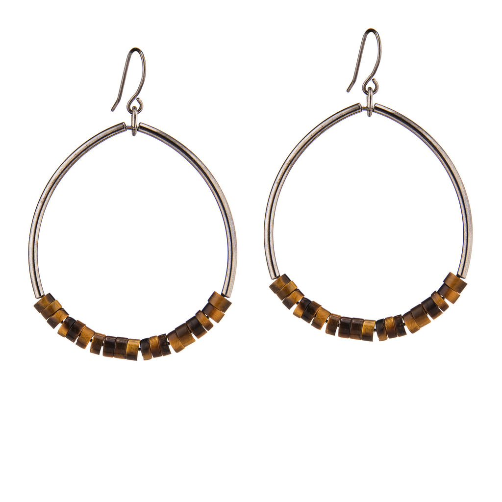 Oasis Earrings Tiger Eye
