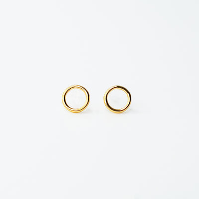 Shiny Open Circle Studs - 14k Gold Fill