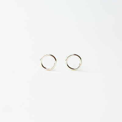 Shiny Open Circle Studs - Sterling Silver