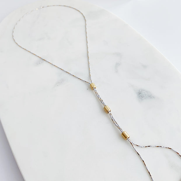 Lunetta 2-in-1 Necklace - White and Gold