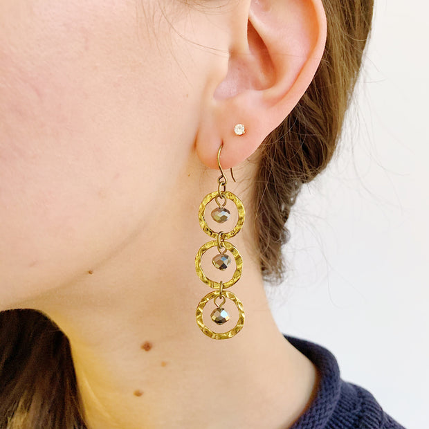 Atmosphere Earrings - Brass