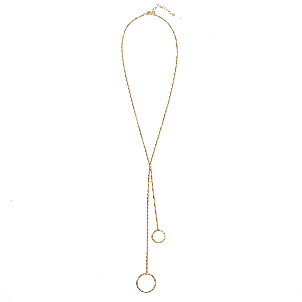 Ravello Y Necklace - Gold