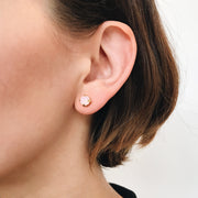 Audrey Swarovski Crystal Stud Earrings - Blush 2