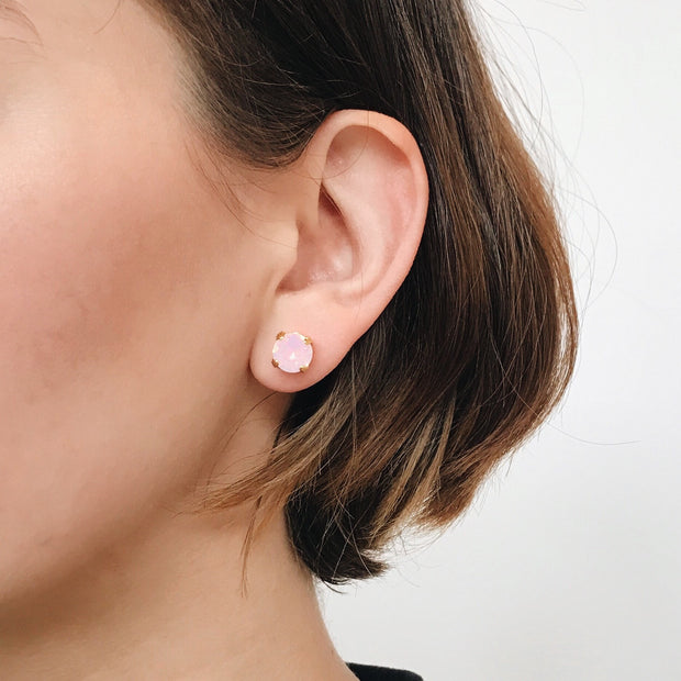 Grace Swarovski Crystal Stud Earrings - Blush 2