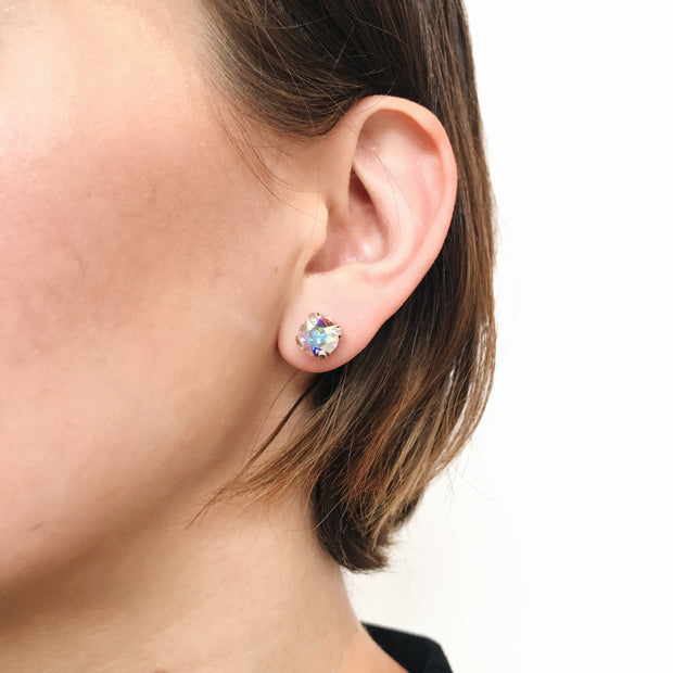 Grace Swarovski Crystal Stud Earrings - Confetti 2