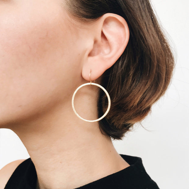 Positano Drop Hoop Earrings - Gold - Imperfect