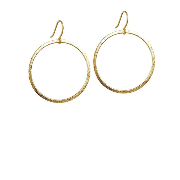 Positano Drop Hoop Earrings - Gold