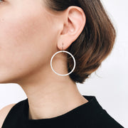 Positano Drop Hoop Earrings - Silver - Imperfect