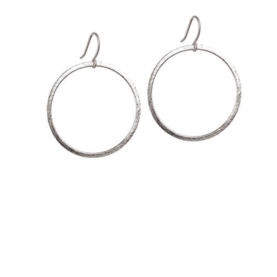 Positano Drop Hoop Earrings - Silver
