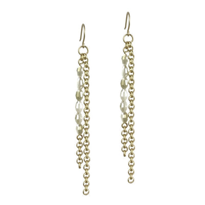 Basaltic Earrings - Gold
