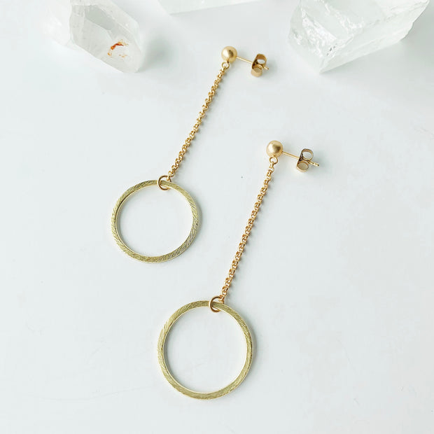 Ravello Drop Post Earrings - Gold