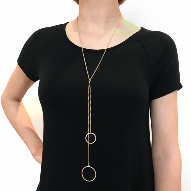 Ravello Y Necklace - Gold 2