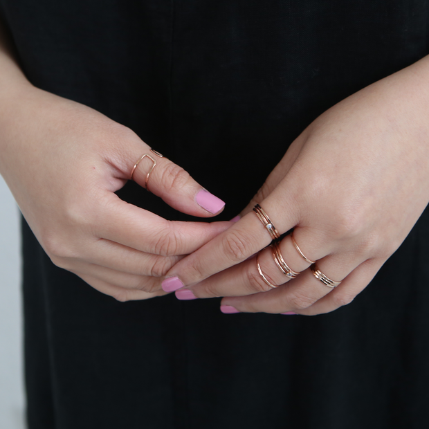 Essential Stacking Ring - 14k Rose Gold Fill