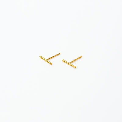 Delicate Bar Studs - 14k Gold Fill
