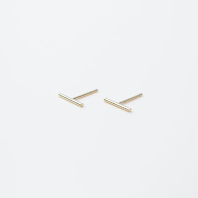 Shiny Bar Studs - Sterling Silver