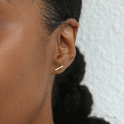 Minimal Stud Earrings Set - Gold