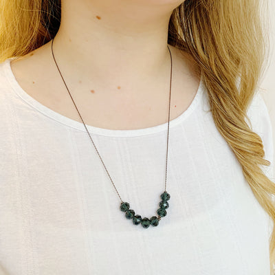 Abacus Necklace - Midnight
