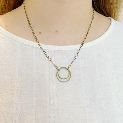 Andromeda Pendant Necklace - Brass