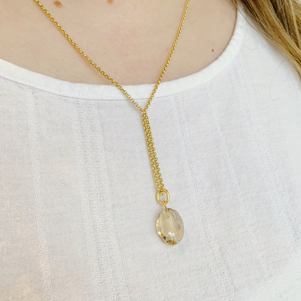 Sterlet Oval Necklace - Gold - Imperfect