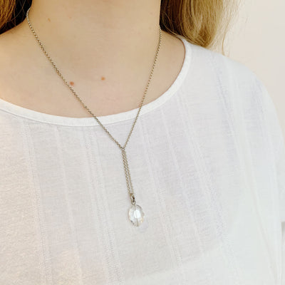 Sterlet Oval Necklace - Silver - Imperfect