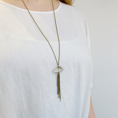 Tranquility Necklace - Brass - Imperfect