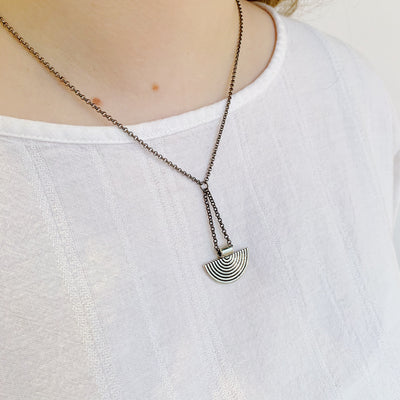 Vagabond Necklace - Gunmetal
